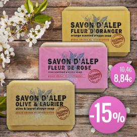 Pack Savon d'Alep Rose