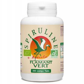 Spiruline + Vitamine C Flamant Vert Bio - 300 comprimés