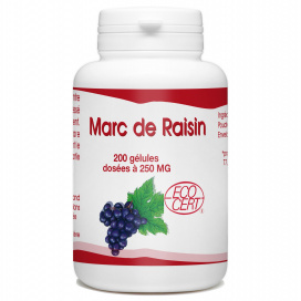 Marc de Raisin Bio - 250 mg - 200 gélules