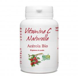 Vitamine C Acérola Bio Poudre - 50 grammes