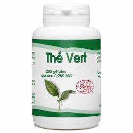 Thé Vert Ecocert - 250 mg - 200 gélules