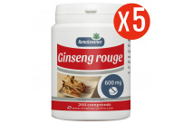Ginseng Rouge - 600 mg - 200 comprimés x 5