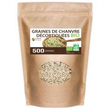 Graines de Chanvre Décortiquées Bio - 500g