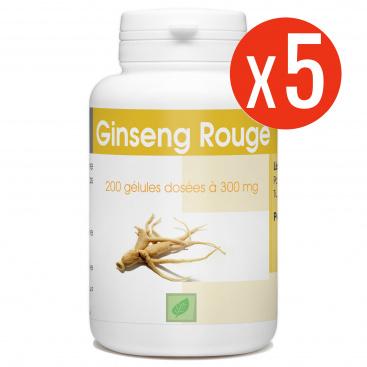 Ginseng Rouge 1000 gélules - 300 mg - 200 x 5