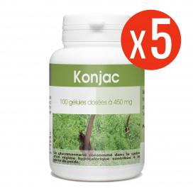 Konjac 5x100 gélules à 450 mg