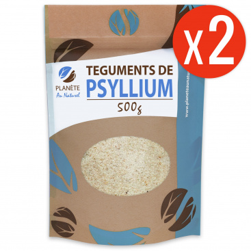 Psyllium Blond Téguments 500 g x2