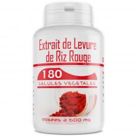Levure de Riz Rouge 1,6% - 180 gélules