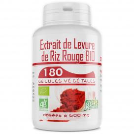 Extrait de Levure de Riz Rouge Bio 1,6% - 180 gélules