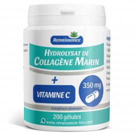 Collagène Marin Hydrolysat + vit c 200 gélules