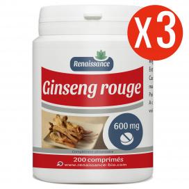 Ginseng Rouge 600 comprimés - 600 mg - 200 x 3