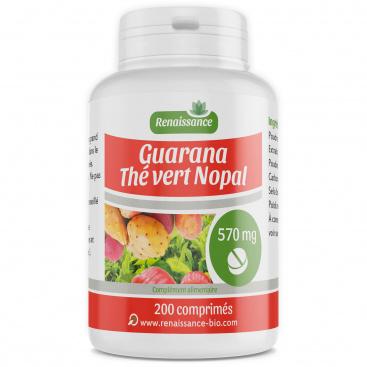 Guarana Nopal Thé Vert - 570 mg - 200 comprimés
