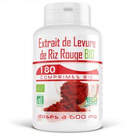 Extrait de Levure de Riz Rouge Bio - 180 comprimés